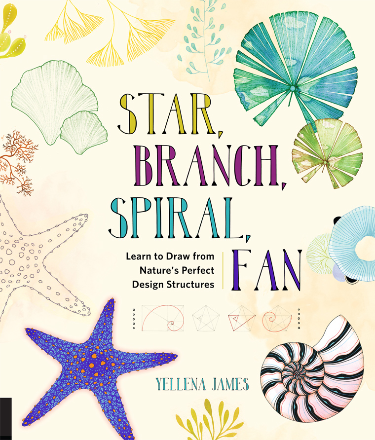 My New Book Star Branch Spiral Fan Yellena James